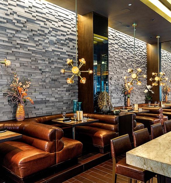 Ocean Prime in Naples, Florida showcases Cultured Stone's beautiful Pro-Fit® Modera™ Ledgestone in the color Carbon.