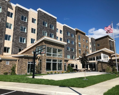 The mix of three beautiful exterior stones is what makes this Residence Inn in Toledo, Ohio truly stand out. All exterior materials are manufactured by Cultured Stone.