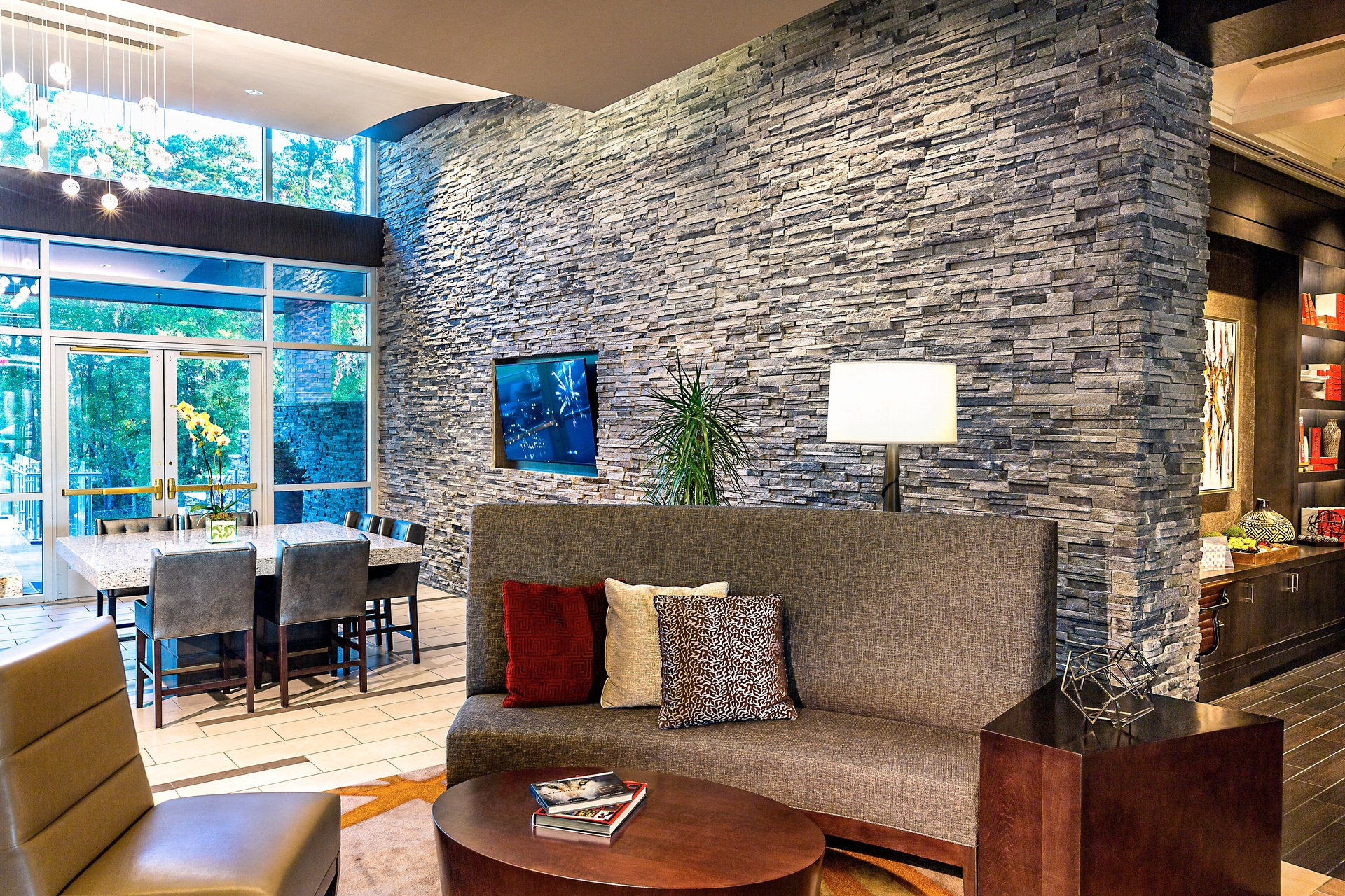 Cultured Stone The Stateview Hotel interior lobby