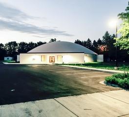 Custom Construction and Design Kasson Public Library Exterior Evening