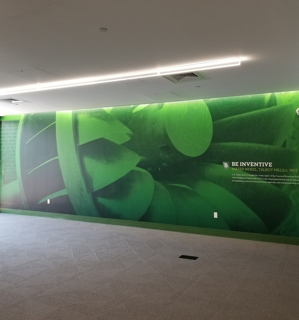Custom Wallpaper print and environmental graphic. Wallpaper and environmental graphic was printed on a cleanable material safe for healthcare environments.