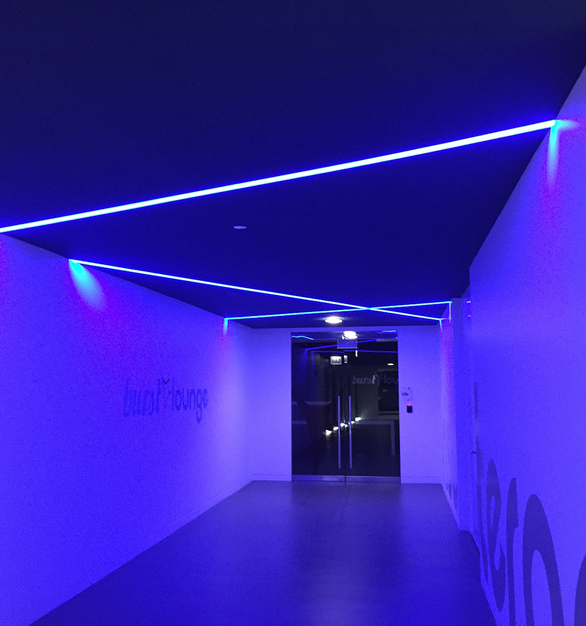 Dado Lighting customized their SimpleLine Mullet lights for the Hydzik-Schade Associates office in Chicago, Illinois.