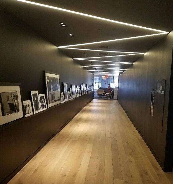 Thin, shallow lighting is a perfect fit for any space. Shown here is Dado Lighting in Sony's U.S. Headquarters in New York City.