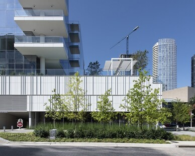 The Hall Arts Hotel in Dallas, TX features painted aluminum panels from Dri-Design.