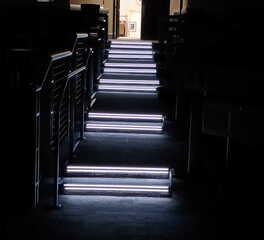 Dark Room Stair Lighting