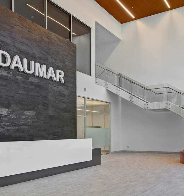 Glasshape® has the capabilities to bend its Glass in many different ways, shapes and sizes; providing a limitless array of options for custom curves.  The Daumar Offices utilized the TemperShield Toughened Glass for this unique, curved staircase.