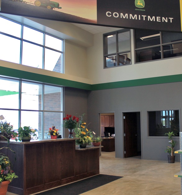 Shown here is reception area at the Ag Power Enterprises showroom.