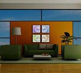 Decorative Ceiling Tiles  ART NAUTILUS BRILLIANCE ROOM SCENE