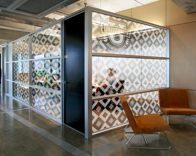 Frosted Fusion Collection is perfect for divider panels, semi-private panels, and wall panels. No matter how Frosted Fusion is used to divide space, the collection's visual weightlessness doesn't divide attention.