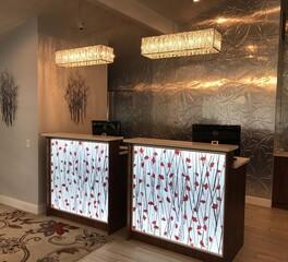 Decorative Ceiling Tiles TIMBER VALLEY HOTEL LUMISPLASH GINGKO REEDS RED 1