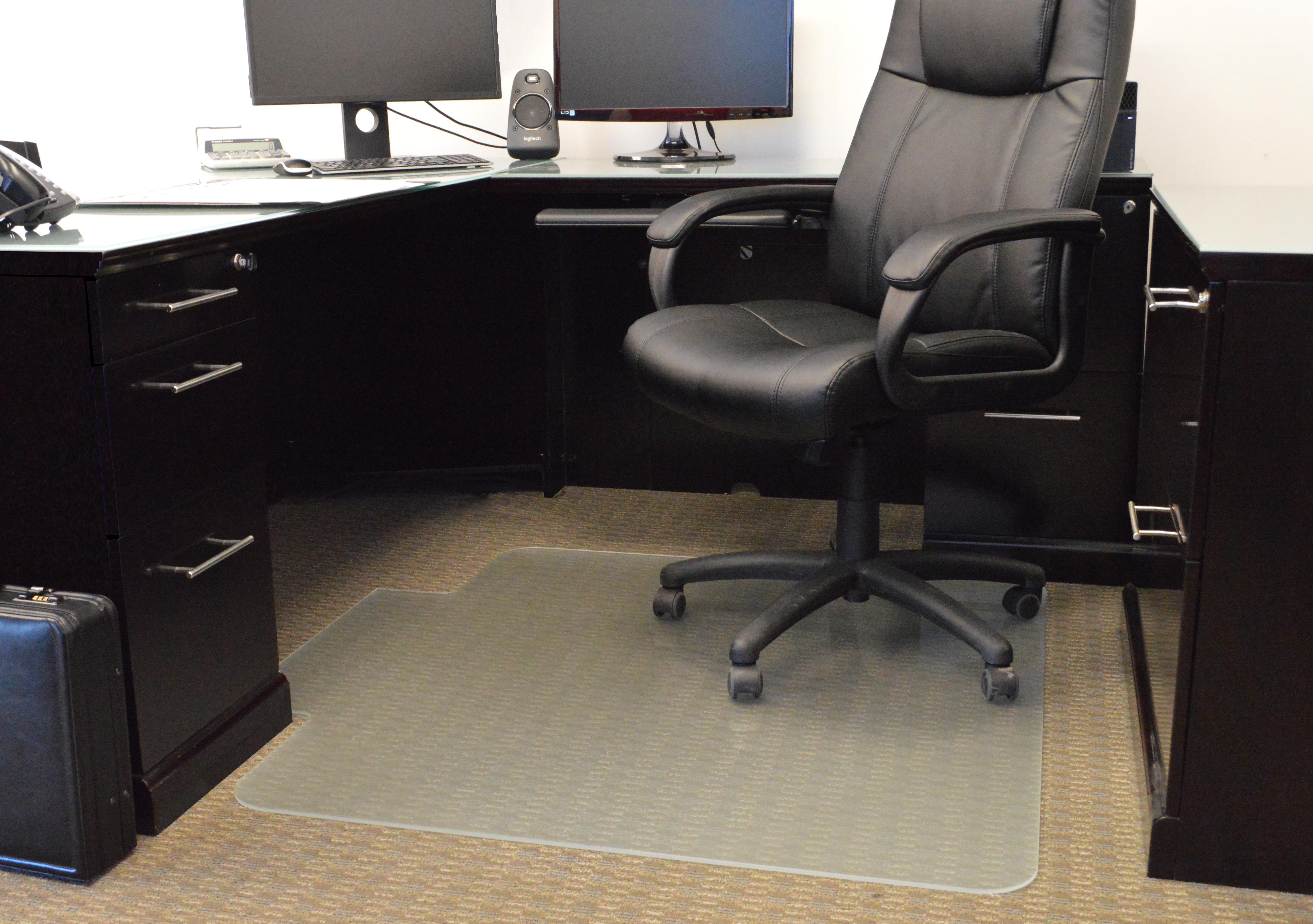 Denver Glass Interiors Moltin Glass Chair Mats Private Office Flooring
