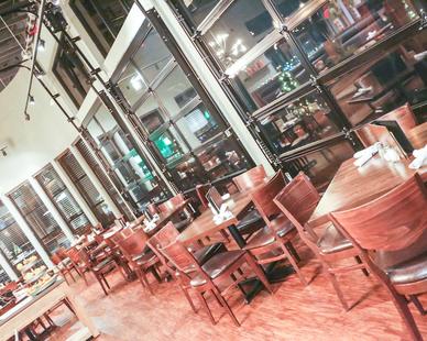 Interior of Five West Kitchen + Bar.