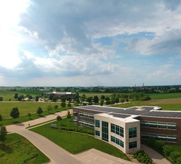 Design Engineers Cedar Rapids Office Net-Zero Energy Certified Exterior View