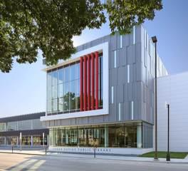 Design Engineers Cedar Rapids Public Library Engineering Exterior View