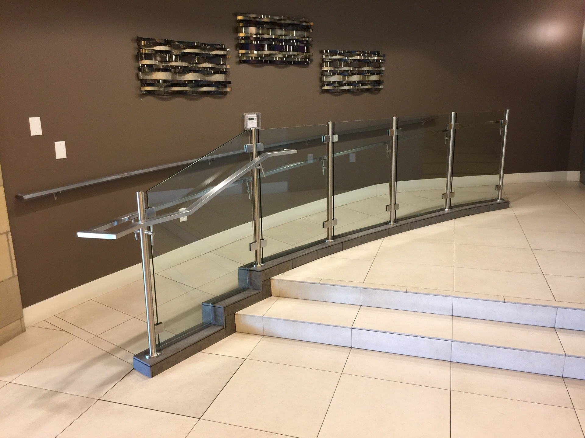 Denver Glass Interiors fabricated, measured and installed this custom fabricated glass railings.