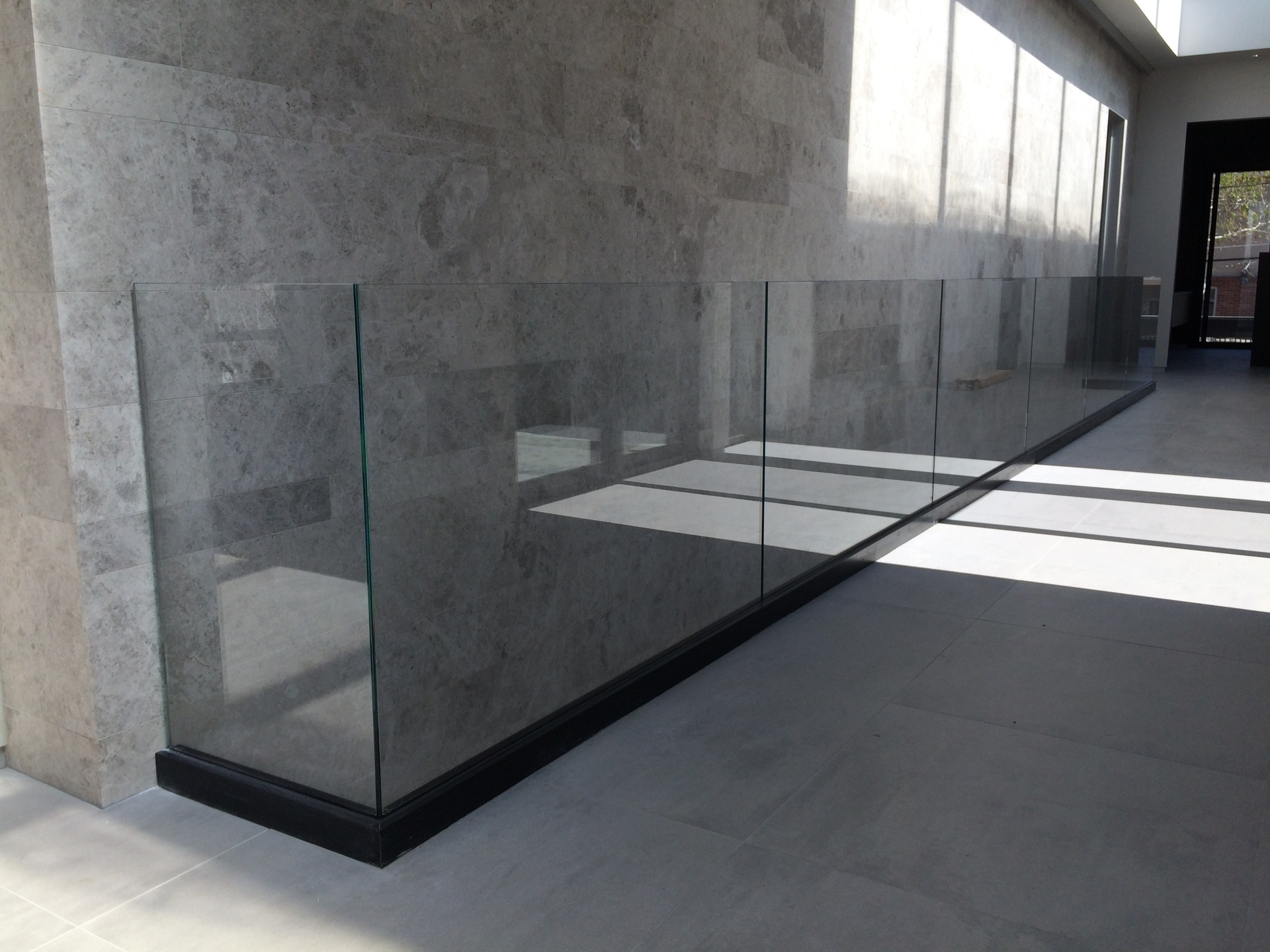 Denver Glass Interiors fabricated, measured, and installed this custom fabricated glass railings.