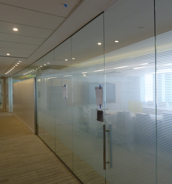 Glass wall partitions are not only modern and stylish in appearance; they offer many advantages for the contemporary office. Most notably, they effectively create a light and spacious working environment. If there are certain rooms that will be used specifically for meetings that tinted, frosted, or colored glass is a great way to keep them private.