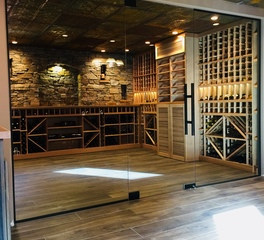 DGI Denver Glass Interiors Wine display