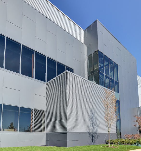 Exterior of Digital Loudoun that used all Fabral products for the facade.