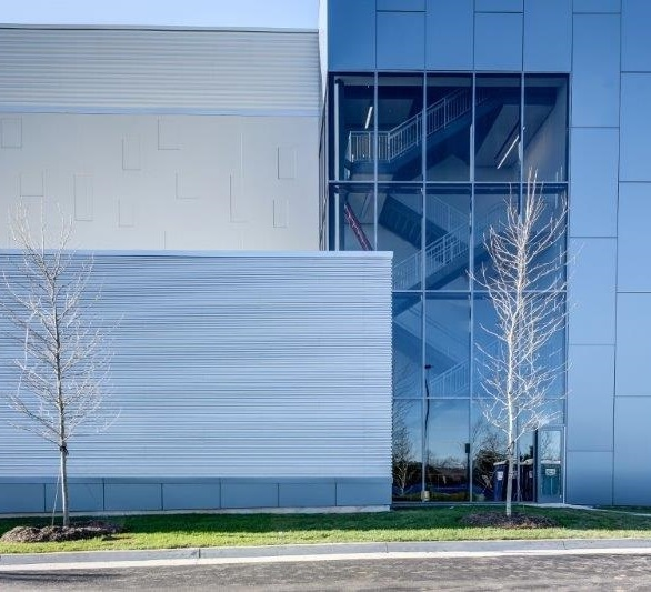 Digital Loudoun used Gray Velvet to add visual clarity to the facade.