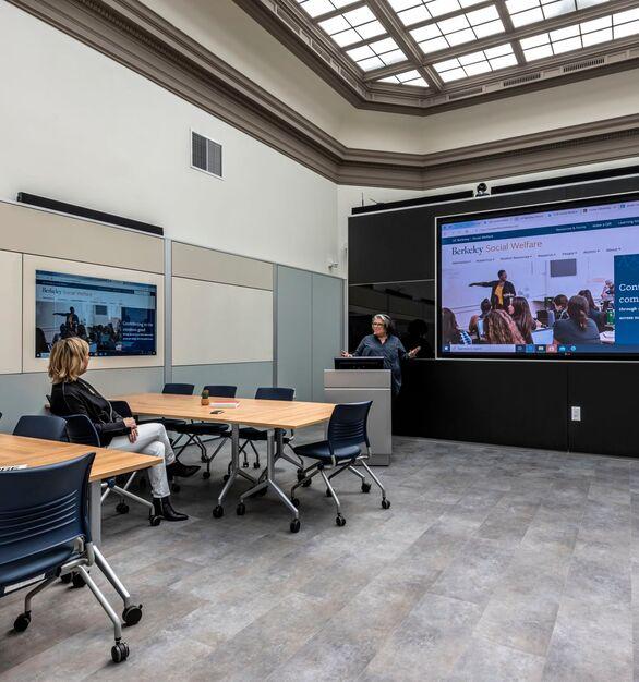 Berkeley Artificial Intelligence Research Lab photo showing a classroom built using DIRTT custom modular interior solutions.