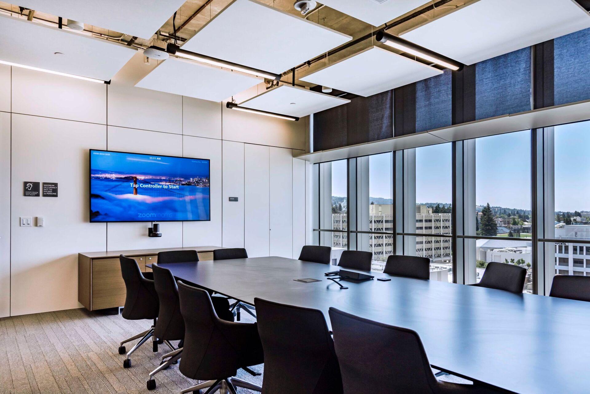 Berkeley Artificial Intelligence Research Lab photo showing a meeting room built using DIRTT custom modular interior solutions.