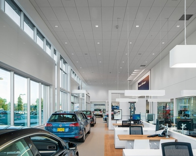 D.J. Kranz worked diligently as the general contractor to complete the interior of Luther Brookdale Volkswagen in Brooklyn Center, MN.