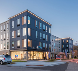 DJR Architecture Henley Apartments and Townhomes Multi Family Housing Exterior Facade and Window Design