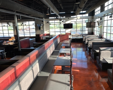 Functional dining area at Black Rock Bar & Grill in Beavercreek, OH by Dras Cases