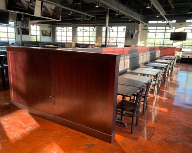 Dras Cases created this beautiful, custom millwork and molding at Black Rock Bar & Grill in Beavercreek, OH.