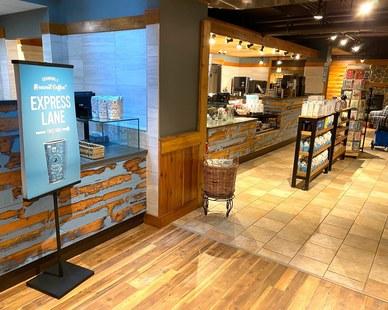 Dras Cases Caribou Coffee Interior Design