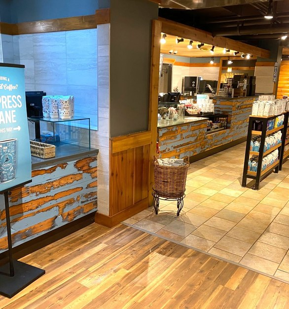 Dras Cases Caribou Coffee Interior Design