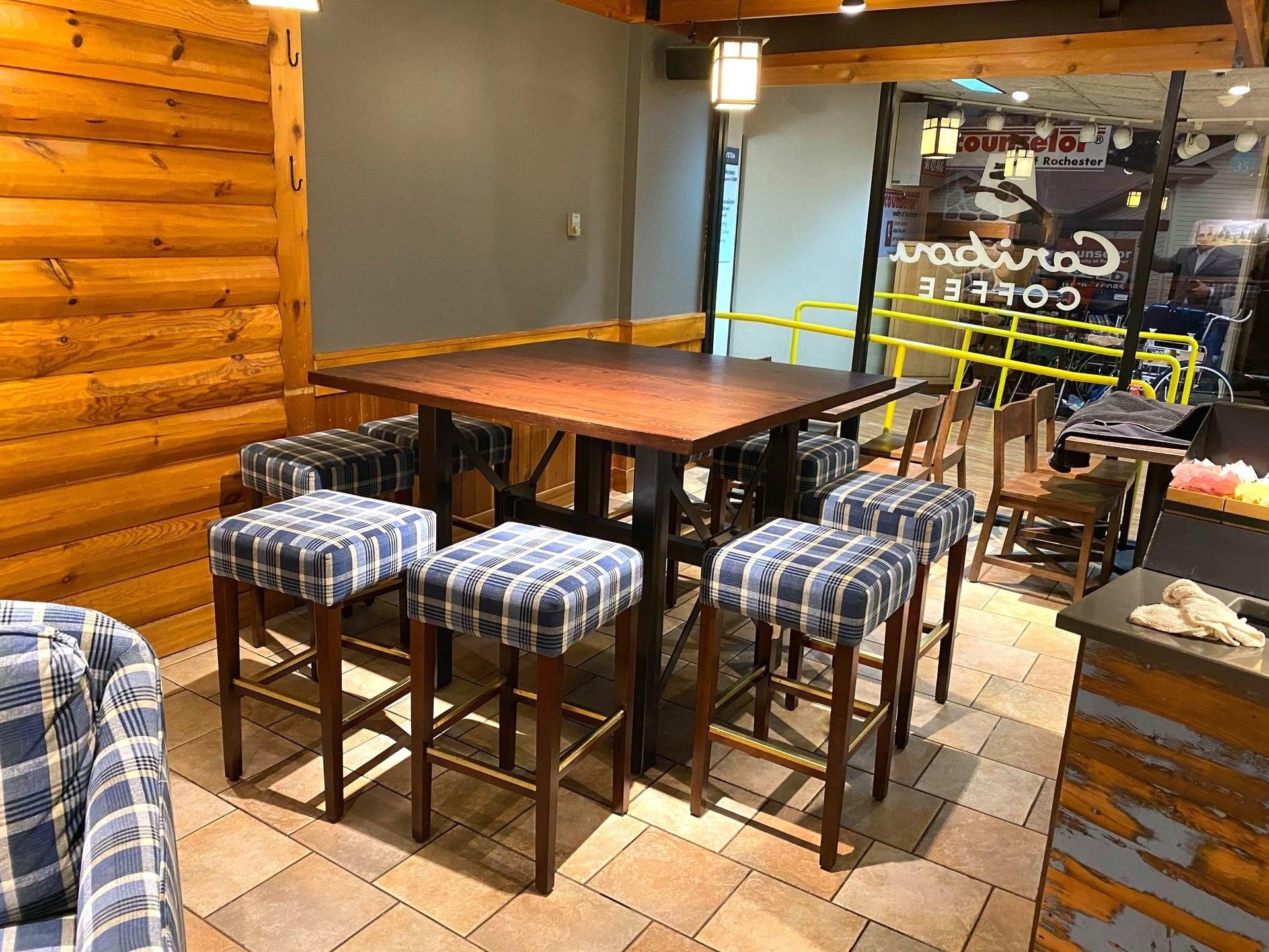 Dras Cases Caribou Coffee Interior Seating Design