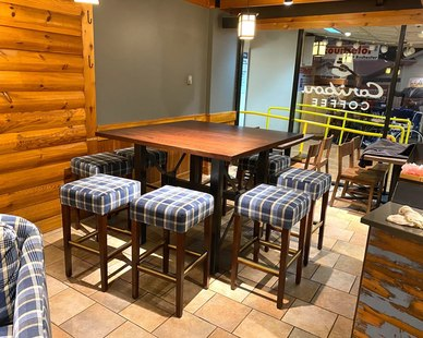 Dras Cases Caribou Coffee Interior Seating Design