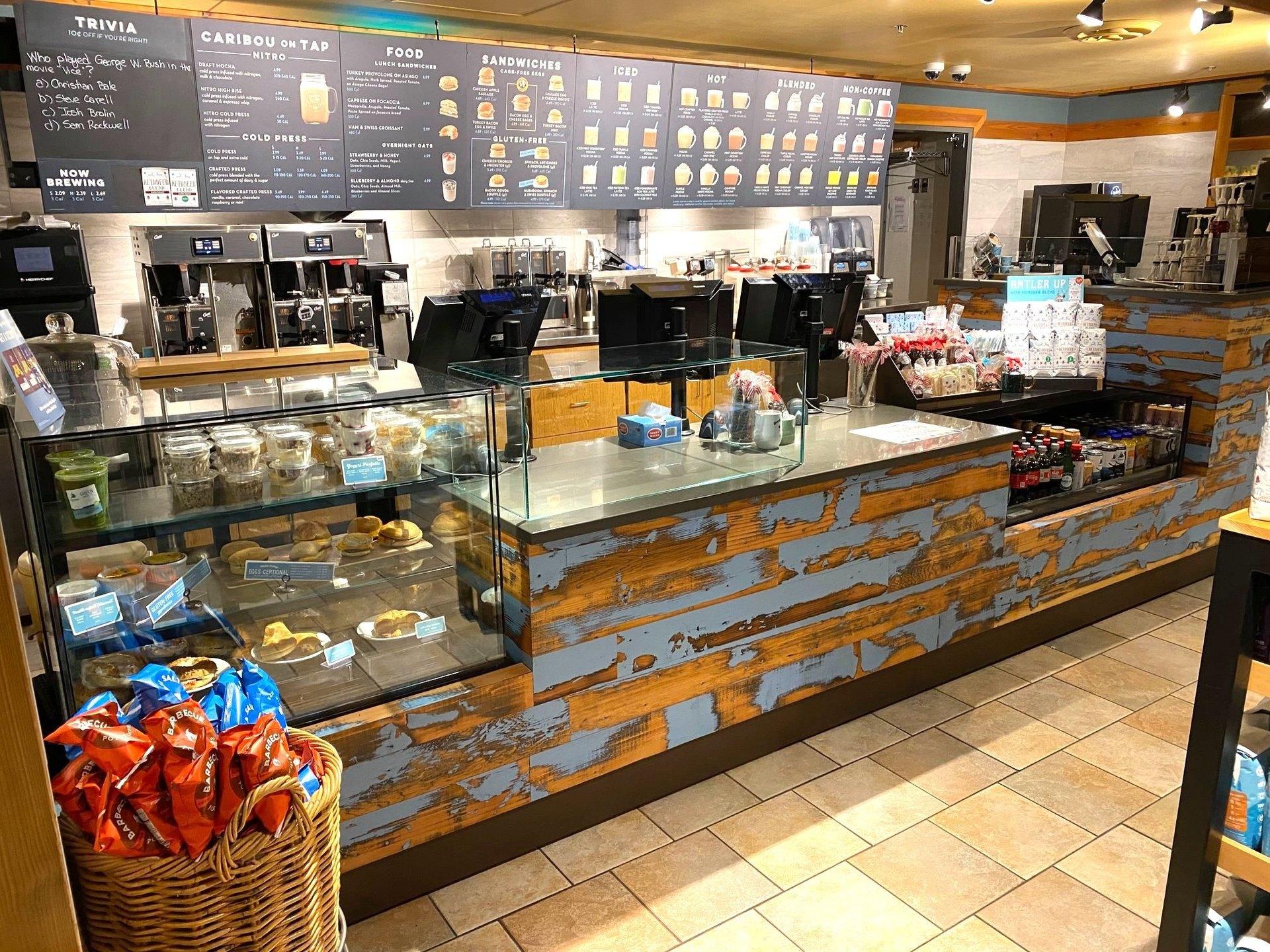 Dras Cases Caribou Coffee Service Counter Design