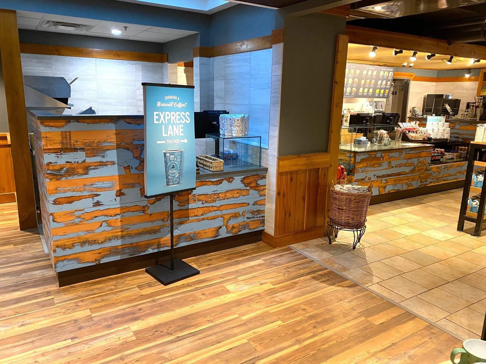 Dras Cases Caribou Coffee Shop Millwork Design