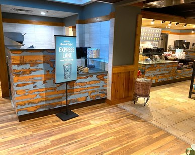 Dras Cases Caribou Coffee Shop Millwork Design