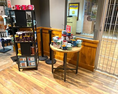 Dras Cases Caribou Coffee Shop Retail Display
