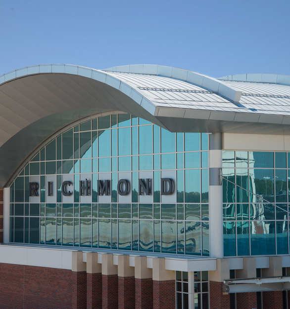 Exterior of Richmond International Airport in Richmond, VA.