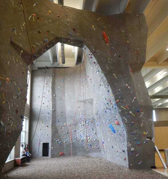 The Life Time Fitness in Centennial, CO features approximately 4,629  sq. ft. of High Performance climbing wall.
