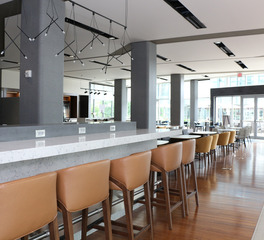 DuPont Tedlar Hospitality Wallcoverings Courtyard Marriott The Navy Yard Bar Lounge