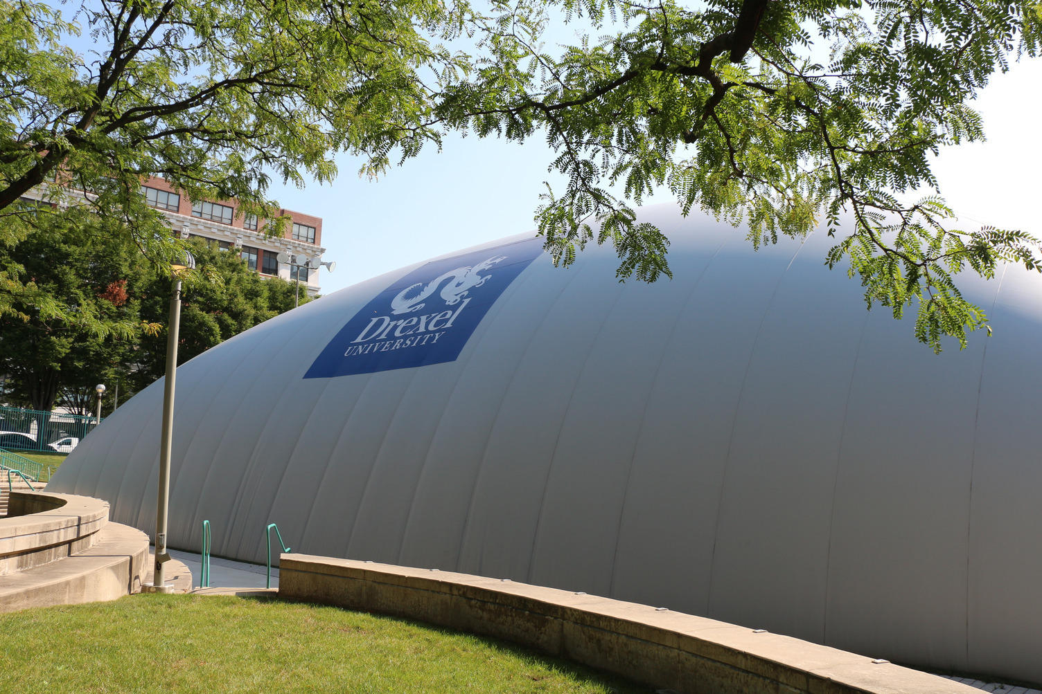 "In the heart of Philadelphia, PA the Drexel University ""Buckley Bubble"" creates added field space for athletes to practice year around."
