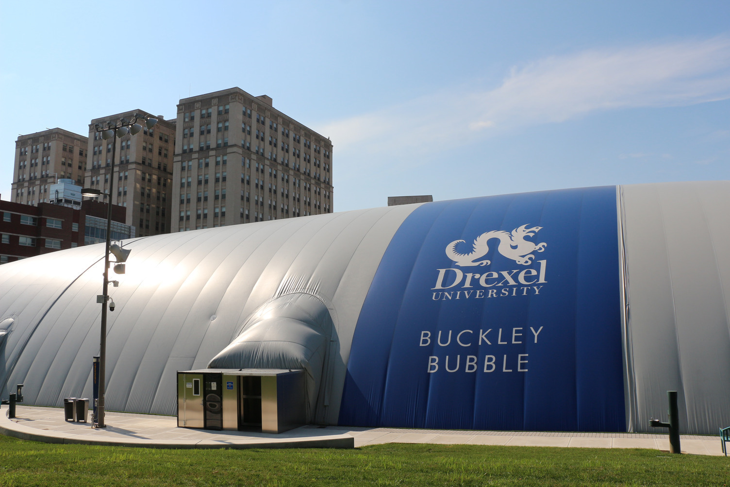 Drexel University installed an air-inflated structure using Tedlar film in the Fall of 2019. Ideal for recreational or athletic field space during the colder season for additional space for athletes to practice.