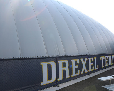 DuPont Tedlar Wallcovering Film Drexel University Vidas Athletic Field Inflatable Dome Exterior Protective Film
