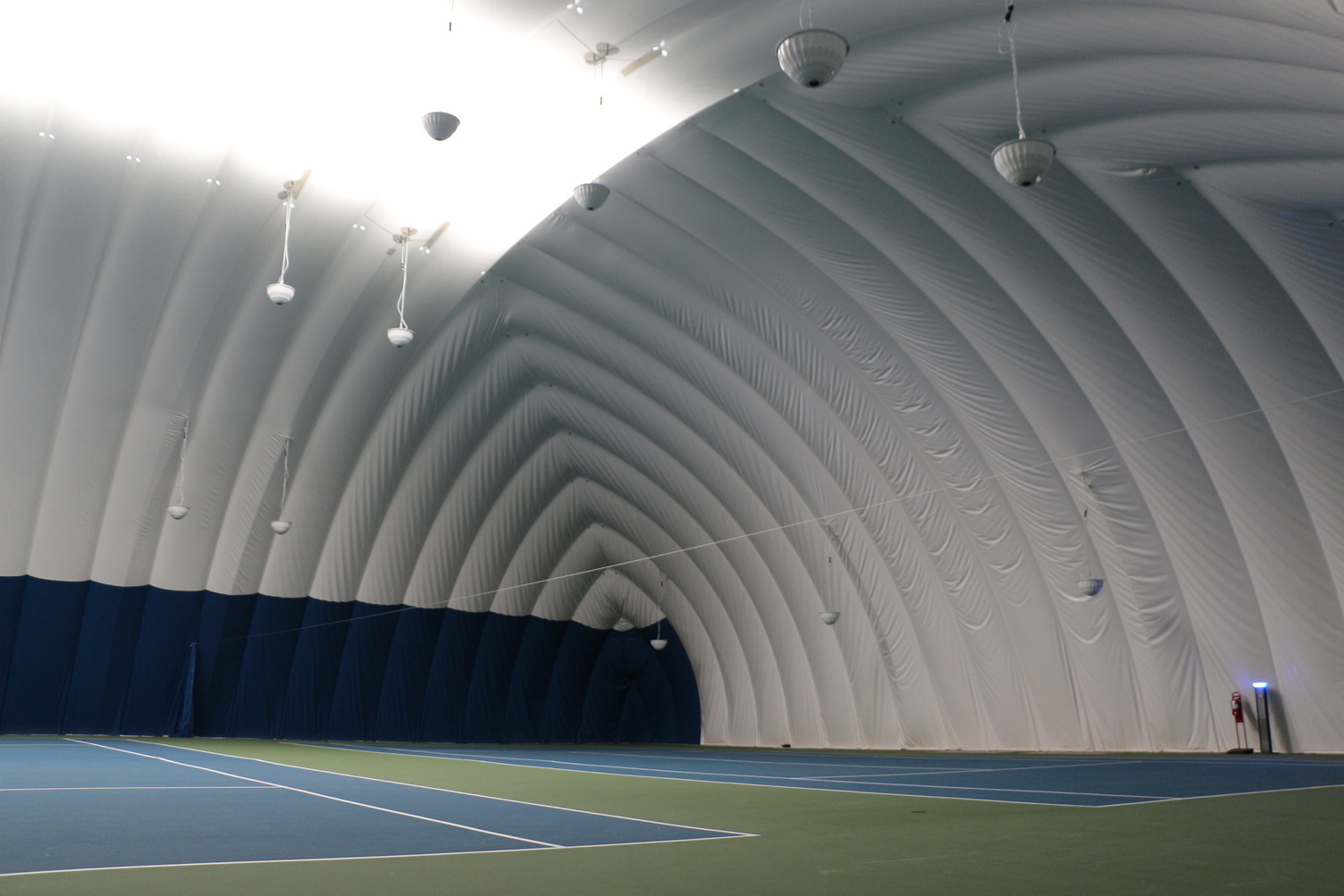 DuPont Tedlar Wallcovering Film Drexel University Vidas Athletic Field Inflatable Dome Interior Courts