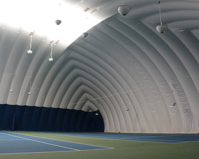 DuPont Tedlar Wallcovering Film Drexel University Vidas Athletic Field Inflatable Dome Interior Courts