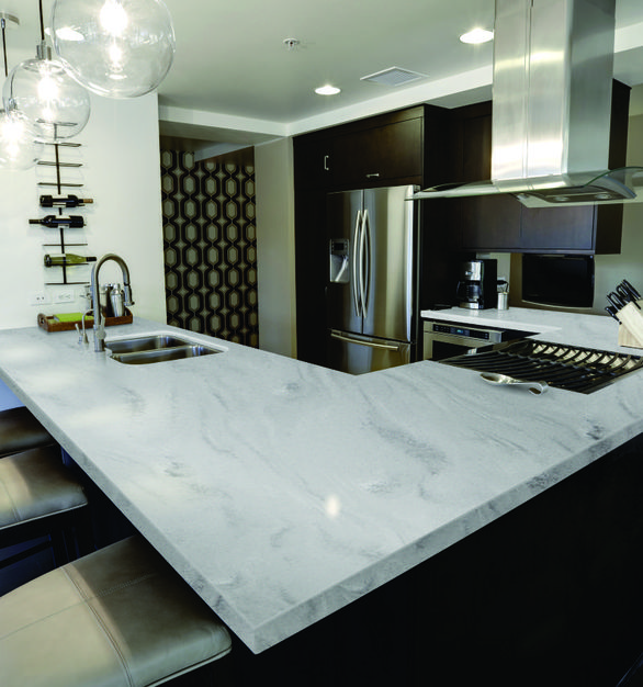 Durasein's solid surface countertops provide a stunning option for any kitchen.