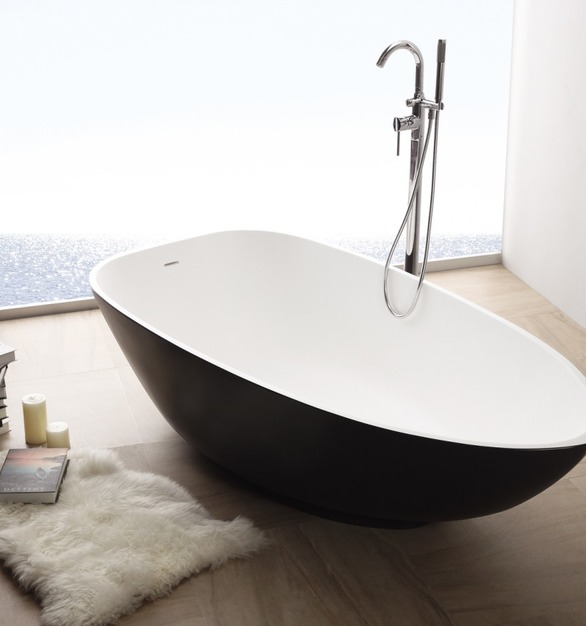 Custom bathtub featuring solid surface materials by Durasein.