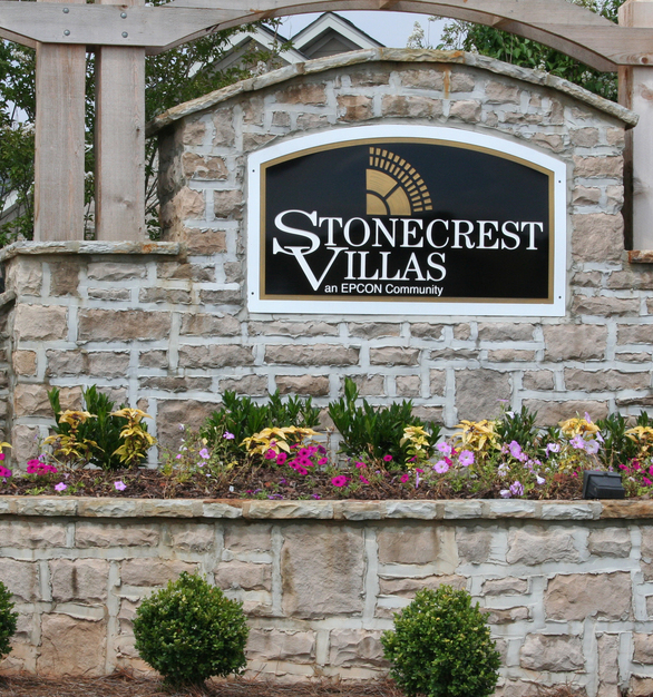 Dutch Quality Stone is the perfect material to create multi-level signage to showcase the design of this community.