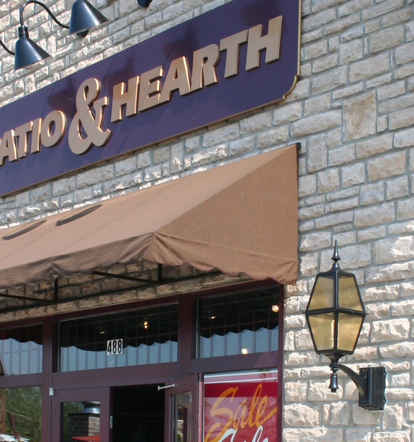 Patio & Hearth restaurant used Dutch Quality Stone's Ohio Tan Limestone for the exterior of their building.